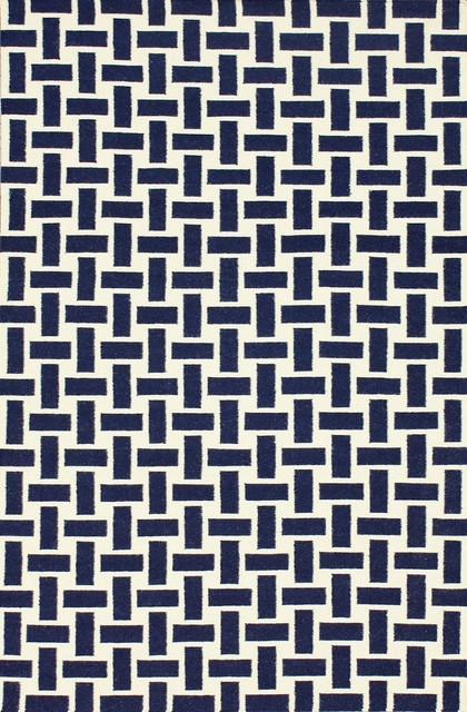 Contemporary decor hallway runner 2 39 6 x8 39 runner navy area for Contemporary runner rugs for hallway