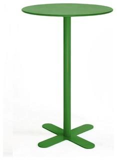 Table haute m tal ronde d80 san mateo couleur vert moderne table de jardin bistrot par - Table de jardin plastique vert saint paul ...