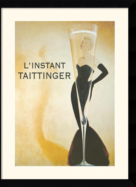 L Instant Taittinger Framed Print By Vintage Traditional