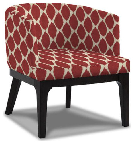 Oliver Chair Ikat Print Modern Armchairs And Accent