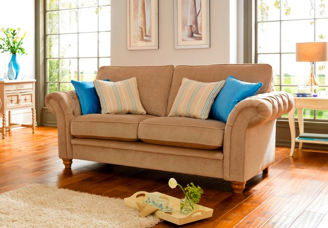 Caressa 2 Seater Sofa ? Chesterfield Sofa Styling With Standard Back or Pillow B - Traditional ...