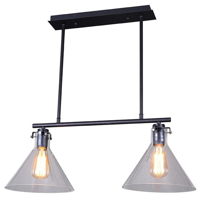 2 Light Industrial Style Island Light Industrial Kitchen Island Lighting By Lb Lighting