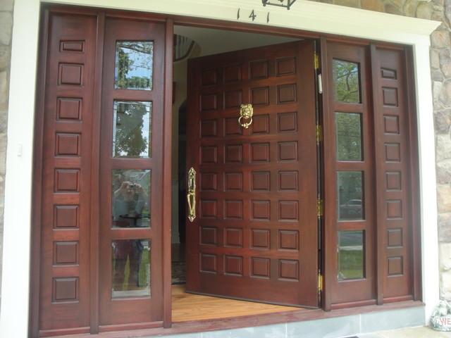 Custom Made Solid Mahogany Door - Front Doors - new york - by Custom Made Wood Furniture