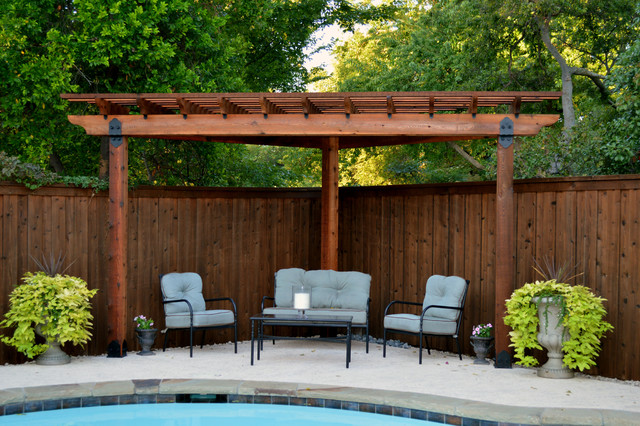 Corner Pergola - Traditional - Pergolas Arbors And ...