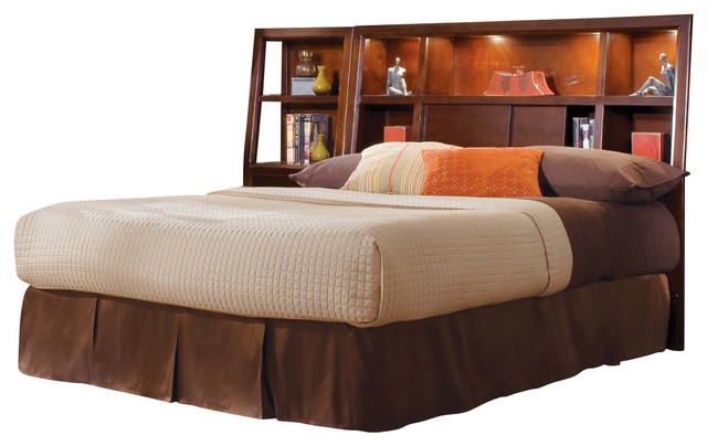 American Drew Tribecca Bookcase Bed Complete In Root Beer Color