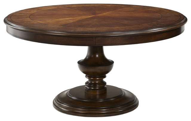 Aico bella cera round dining table traditional dining for Traditional dining table for 8