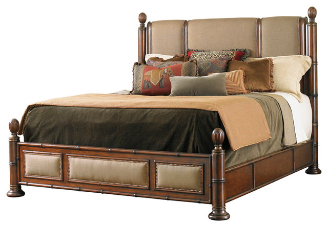 Tommy bahama landara monarch bay poster bed 545 174c for Tropical canopy bed
