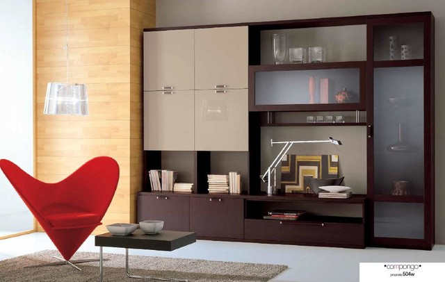 contemporary wall unit compongo 504w 2 modern. Black Bedroom Furniture Sets. Home Design Ideas