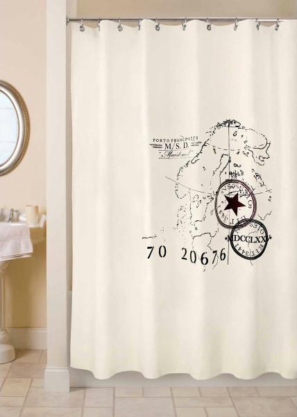Park B Smith World Fabric Shower Curtain Contemporary