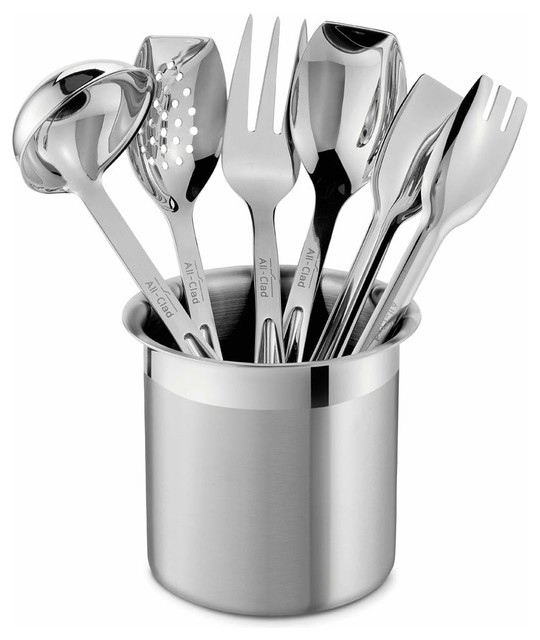 All clad ss cook serve utensil set contemporary for Modern kitchen utensil