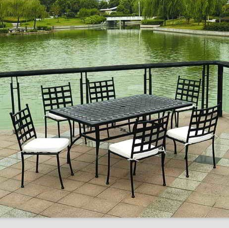 outdoor garden furniture mosaic tiles dining table chair & Beautiful Garden Table and Chairs Set | Balcony Design Ideas