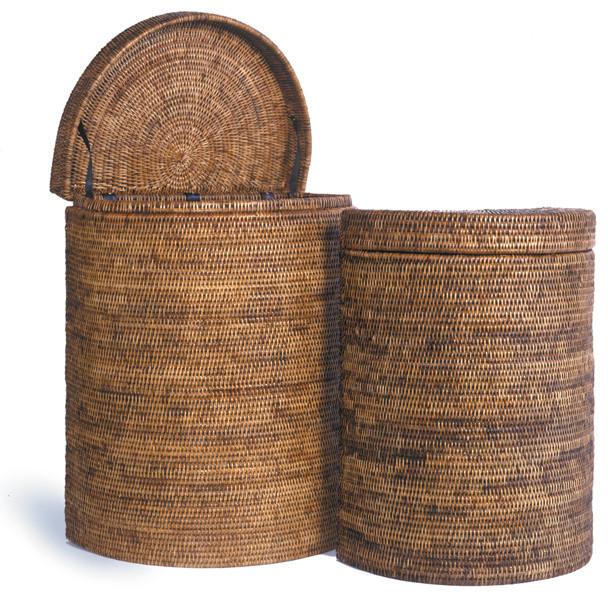 Half moon laundry basket - Contemporary - Baskets - by Origin Crafts