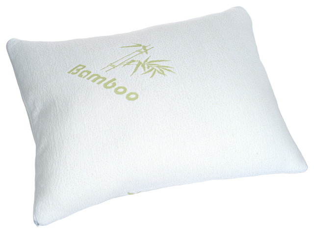 Bamboo Memory Foam Pillow Traditional Bed Pillows By
