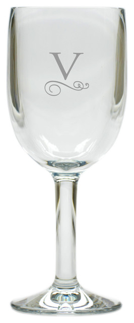 Personalized Classic Unbreakable Wine Glass Etched