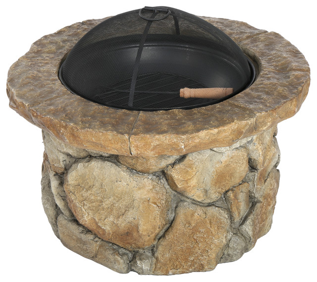 Taylor Outdoor Natural Stone Fire Pit Rustic Fire Pits