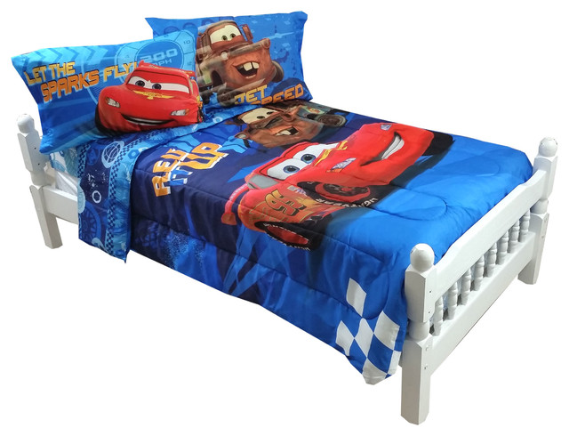 disney cars full bedding lightning mcqueen city limits bed contemporary kids bedding by. Black Bedroom Furniture Sets. Home Design Ideas