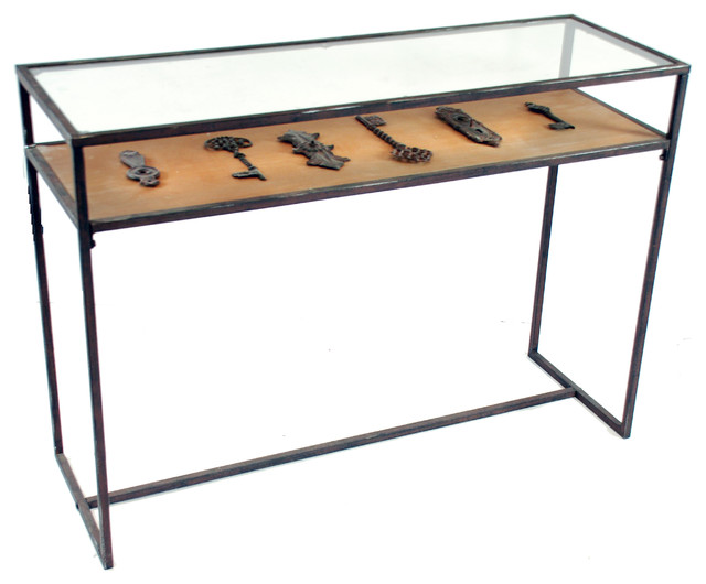 Console table with key decor 42 industrial console for 42 sofa table