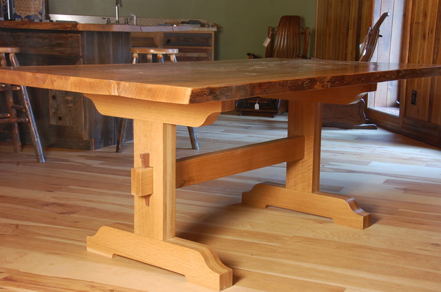 Live Edge Dining Tables with Trestle Base - Rustic - Dining Tables ...