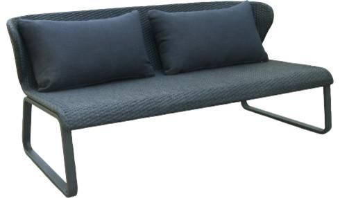 truman banquette de jardin moderne banc de jardin par habitat officiel. Black Bedroom Furniture Sets. Home Design Ideas