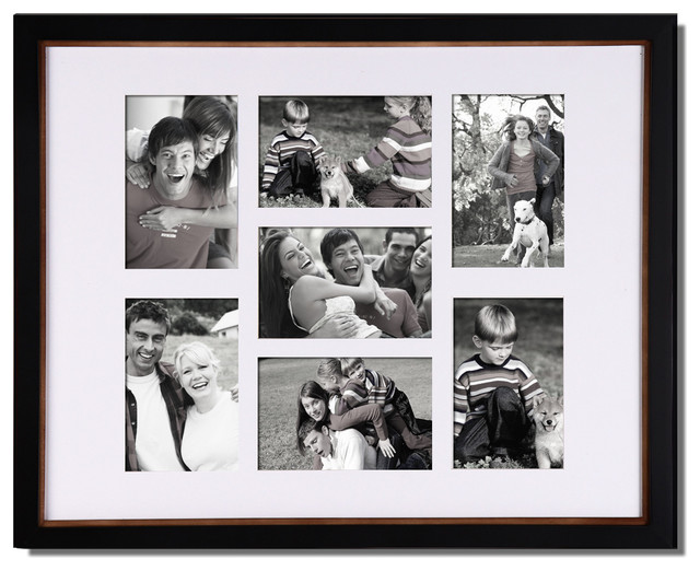 Adeco 7 opening collage picture frame modern picture for Modern collage frame