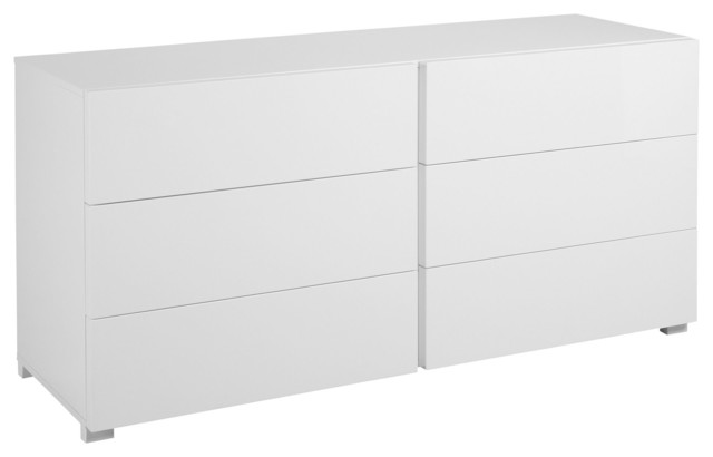 Gloss commode blanc brillant 6 tiroirs contemporary chests of drawers - Commode laquee blanc 6 tiroirs ...