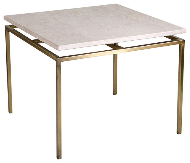 Interlude Home Rylan Brass Side Table