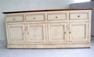 Country Style White Kitchen Hutch Amp Buffet Farmhouse
