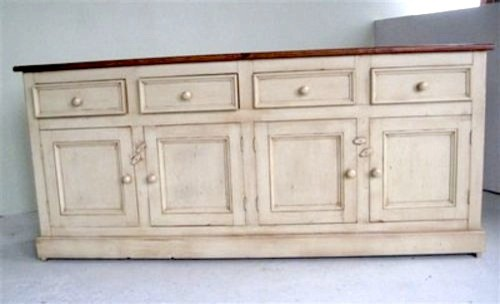 Country Style White Kitchen Hutch & Buffet - Farmhouse - Buffets And Sideboards - Boston - by ...