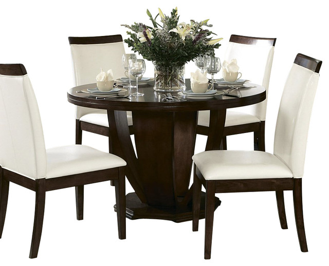 Homelegance Elmhurst 6 Piece Round Dining Room Set with  : traditional dining sets from houzz.com size 640 x 518 jpeg 67kB