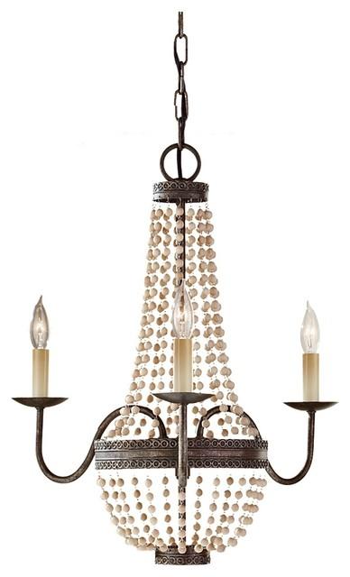 Wood Bead Chandelier Lighting