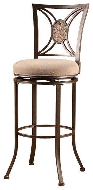 Hillsdale Furniture Rowan Swivel Bar Stool, Silver Brown ...