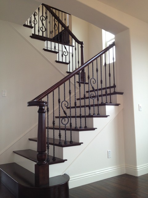 Wood Amp Iron Mediterranean Staircase San Diego By