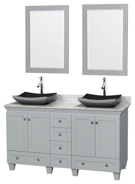 Double Bathroom Vanity Set Oyster Gray Contemporary Bathroom