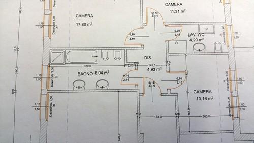 Casa moderna roma italy planimetria bagno piccolo arredamento