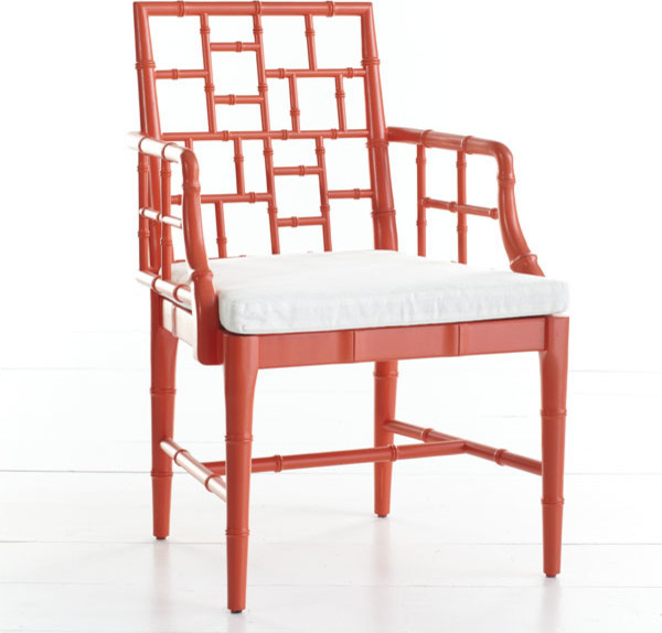 Chinese Chippendale Chair, Poppy Red