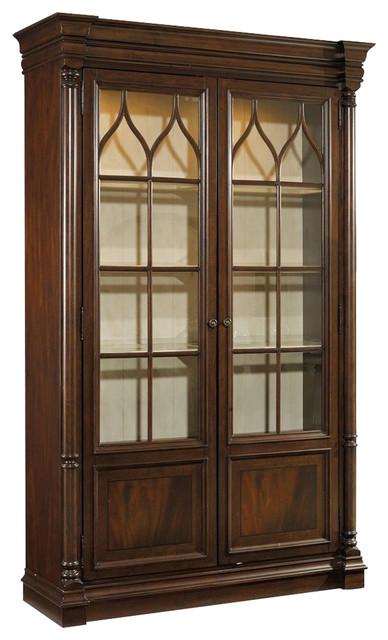 Hooker Furniture Leesburg Display Cabinet, Dark Wood - Transitional - Storage Cabinets - by ...