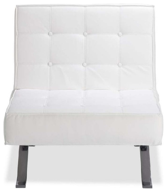 fauteuil design capitonn nelson couleur blanc moderne. Black Bedroom Furniture Sets. Home Design Ideas