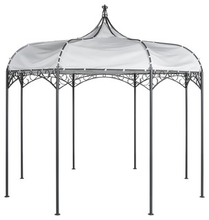 albane pergola autoportante ronde en m tal et toile contemporain pergola tonnelle et barnum. Black Bedroom Furniture Sets. Home Design Ideas
