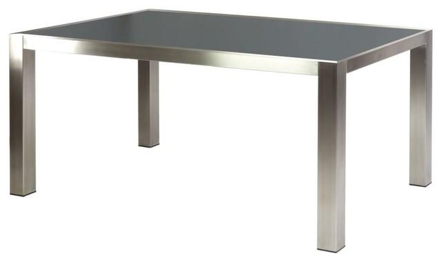 table rectangulaire 1 5 x 0 9 m inox et grc gris. Black Bedroom Furniture Sets. Home Design Ideas