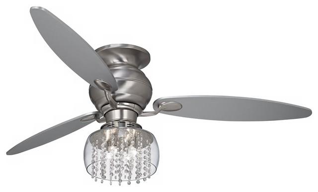 60 Quot Spyder Hugger Crystal Strands Light Kit Ceiling Fan