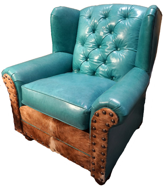 Wingback chair turquoise traditional armchairs and accent chairs