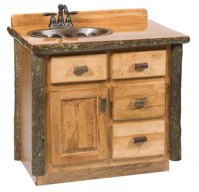 hickory log vanity with top center 30 rustic bathroom vanities and