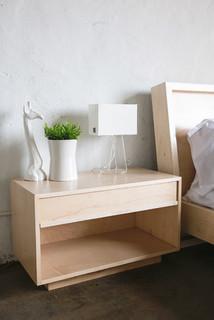 Maple bedside table modern nightstands and bedside for Chris wilhite design