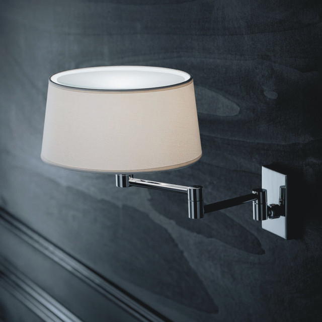 Wall Lights In Sheffield : Classic Swing Arm Wall Sconce - Modern - Swing Arm Wall Lamps - by Lightology