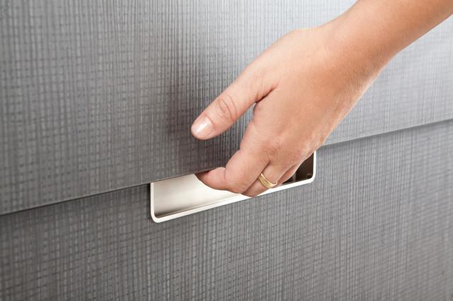 Recessed Kitchen Drawer Pulls 9794 1bpn P Brushed Nickel Recessed Pull By R  Christensen