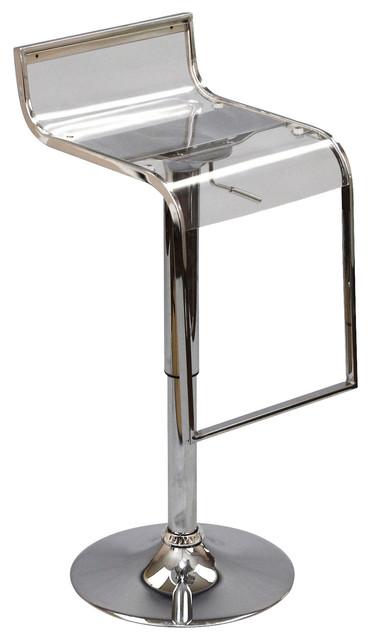 Lem Acrylic Bar Stool In Clear Modern Bar Stools And