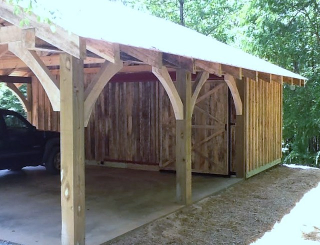 Timber Frame Carport Workshop Rustic Shed Atlanta