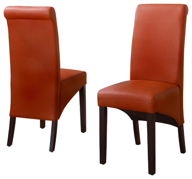 sleigh back chair in sienna set of 2 contemporary dining chairs