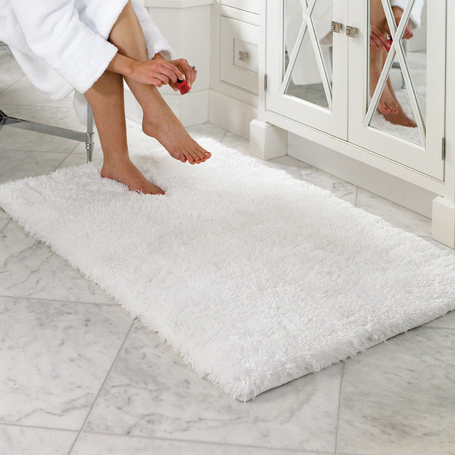 Belize Memory Foam Bath Rug Traditional Bath Mats By