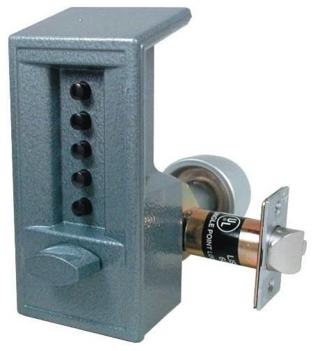 Kaba Access Primary Res Pushbutton Entry Lock 2 3/4 Backset, Silvertone - Contemporary - Door ...